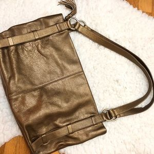Hobo International Pebbled Leather Zip Top Purse